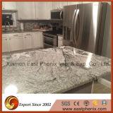 自然な磨かれた台所Worktopsの白い花こう岩の台所カウンタートップ