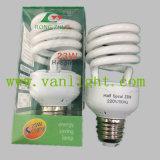 Lâmpada Half Spiral T2-23W CFL de iluminação de economia de energia