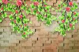 Ventana de diseño del ladrillo fuera de la pintura al óleo 3D del paisaje para las decoraciones de las paredes