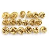 Orecchini Pendant dell'oro trasversale della cavità 18k