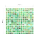 A beira da piscina dos materiais de construção telha o mosaico de vidro italiano verde