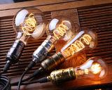 Шарики A19 T45 ST64 G80 G95 MTX СИД, янтарное стекло, шарик нити СИД 3W Dimmable Edison спиральн, супер теплое 2200K, основание E26 E27, декоративное освещение домочадца