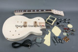 Высеканный Basswood с пылаемым набором гитары DIY верхней части клена