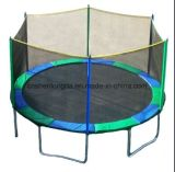 Trampoline redondo de 14FT com 4 pés W-Shaped para o quintal