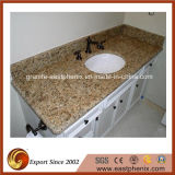 Gold veneziano Granite Vanity Top per Bathroom