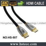 Cable neto de nylon a a a de la trenza HDMI del metal