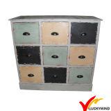Multi-Cassetto elegante misero della mobilia dell'annata di legno solida dell'abete