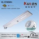 Lámpara ligera solar 40W de la calle LED del poder más elevado del panel
