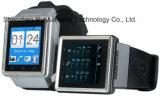 S6 montre intelligente, support 3G, GPS, Bluetooth, microphone, haut-parleur, slot pour carte de FT, fente micro d'USB, FM, WiFi