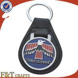 Cuero genuino caliente Keychain (FTKC1874A) de la alta calidad de la venta DIY