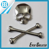 3D Crossbones Skull Demon Metal Bone Logo Badge