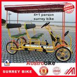 5 bicicleta de Surrey da bicicleta de Surrey do assento da bicicleta 5 da pessoa com assento do bebê
