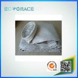 Sacos de filtro não tecidos de pano da fibra de vidro da planta 850GSM do cimento da caldeira