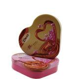 Envase del estaño del conjunto del chocolate de la paloma con en forma de corazón para el estaño Contanier de los amantes