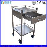 Het beste Verkopende Medische Karretje van de Behandeling van het Ziekenhuis van het Roestvrij staal van China