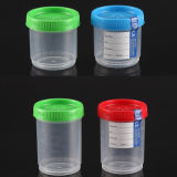 CE Marked e FDA Registered 90ml Urinalysis Specimen Container con Security Tab Label e Sterility