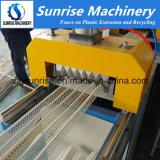 Ligne en plastique de production à la machine d'extrusion de profil de perle faisante le coin de PVC de profil