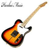 Hanhai Musik/Sunburst Teleart-elektrische Gitarre mit Karosserien-Schwergängigkeit