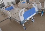 (A-36) Cama de hospital manual de função tripla móvel com cabeça da cama do ABS