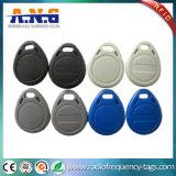 Pequeño encadenamiento dominante plástico RFID Keyfob de la identificación para el bloqueo del hotel