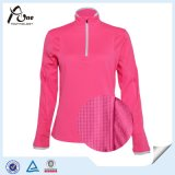 Women Sports를 위한 4분의 1 Zipper Dri Fit Running Shirt