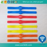 Una Volta Use Ntag 213 RFID Silicone Wristband per Event