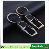 Het heetste Leer Keychain van het Metaal Pu van de Douane