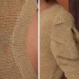 Tricots purs occasionnels de couleur de chemise de pli de femmes