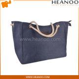 Preiswerte Segeltuch-Gewebe-Arbeitsweg-Handtaschetote-Großhandelsbeutel für Frauen