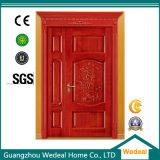 Porte en bois articulée de PVC d'éclat de solide