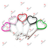 Fashion Customized Alloy Heart Key Lockets for Love Gifts (HKL50814)