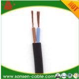PVC aislado y forrado de alambre de cobre BVVB cable flexible plano