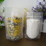 Flache Unterseiten-Stützblech-Fastfood- transparentes Aluminium lamellierter Nahrungsmittelbeutel mit Reißverschluss-Verschluss/Plastikverpackungs-Beutel (ML-E25)