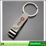 Espacio en blanco de encargo Keychain del metal de los regalos promocionales