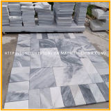 フロアーリングのための自然な磨かれた白くか黒い木の石造りの大理石かカウンタートップまたは舗装するか、または壁