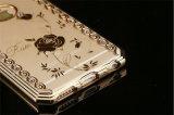 Caixa luxuosa de galvanização do telefone do diamante TPU para Huawei P9 P9lite J7prime J5prime (XSDD-052)