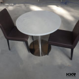 Tabella pranzante rotonda del ristorante di superficie solido di pietra artificiale