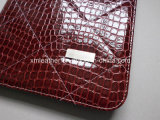 Leather rosso Fashion Portfolio Organizer per Women