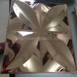 Feuille gravée en relief par miroir décoratif tridimensionnel de l'acier inoxydable 4X8