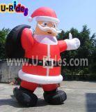 Natale gonfiabile Santaman per fare pubblicità
