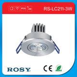 luz de teto de alumínio do diodo emissor de luz do torno 3*1W para a exposição salão