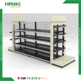 Unidade lateral dobro do Shelving da gôndola da prateleira do supermercado