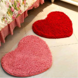 Alfombra en forma de corazón del área de la estera del piso del Chenille de Bochang Microfiber