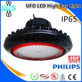 l'alto indicatore luminoso della baia del UFO 100W sostituisce l'alto indicatore luminoso dell'alluminio della baia del sodio