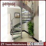 Escalera de cristal espiral de interior del diseño (DMS-B1003)