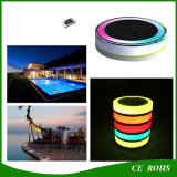 Buntes und des RGB-Solarswimmingpool-LED helles romantisches sich hin- und herbewegendes LED Solarlicht auf dem Wasser mit Fernsteuerungs