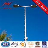 La ISO barata de poste ligero 10m de calle certifica Q235 HDG