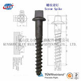 Ss35 Screw Spike, Sleeper Screw, 안으로 Concrete Screw