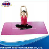 Natte de yoga de caoutchouc mousse de nature de qualité