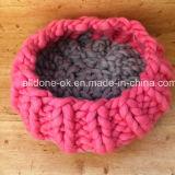 Klumpige Handklumpiges Knit-Haustier-Hundewolle-Matten-Zudecke-Bett